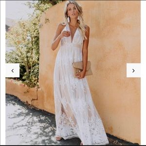 Antonia White Lace Maxi dress